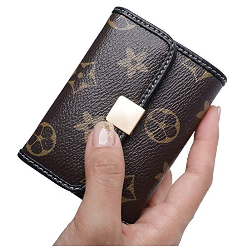Sueway Women's Small RFID Blocking Card Holder Leather Mini Cute Coin Purse Wallet (Classic Brown 02) ()