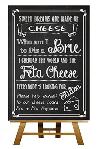 A4 pizarra queso gracioso hijo queso Junta con texto en ...