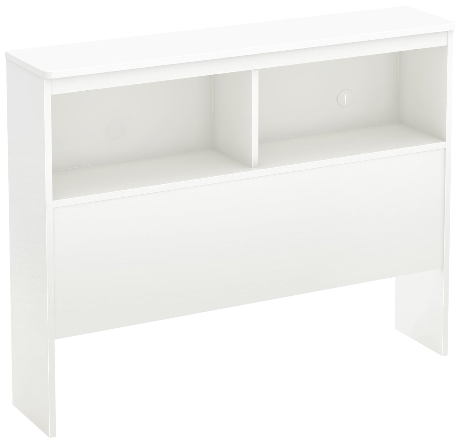 South Shore Libra Bookcase Headboard with Storage, Twin 39-inch, Pure White