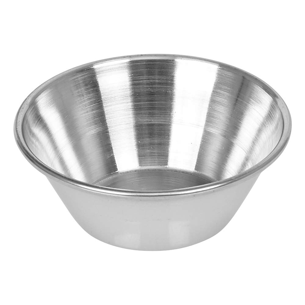 (144 Pack) Small Sauce Cups 1.5 oz, Commercial Grade Stainless Steel Dipping Sauce Cups, Individual Condiment Cups/Portion Cups/Ramekins by Tezzorio by Tezzorio Tabletop Service (Image #3)