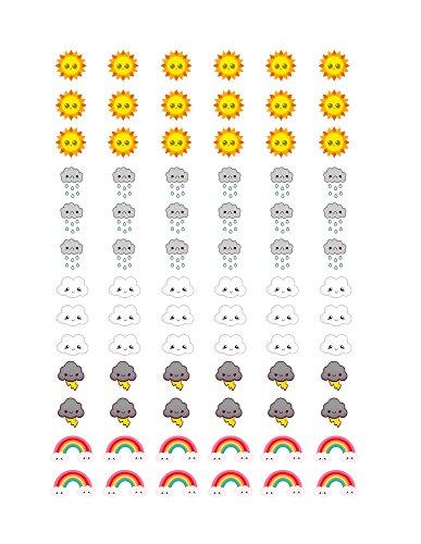 Trend Monthly Calendar - Monthly Planner Stickers Kawaii Weather Stickers Planner Labels Compatible with Erin Condren Vertical Life Planner