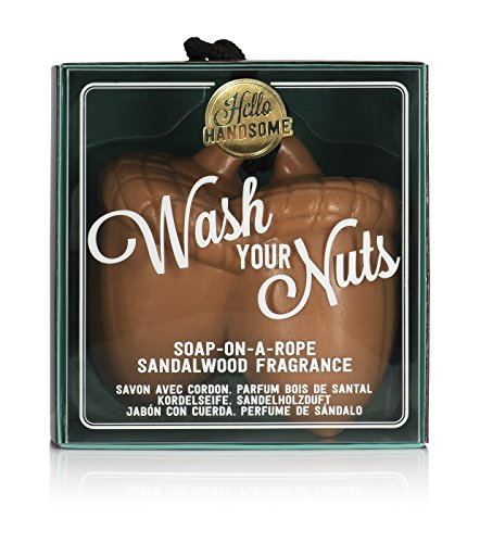 NPW-USA Hello Handsome Wash Your Nuts Soap-On-A-Rope, San...