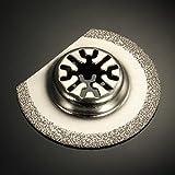 Pukido 63mm/88mm Diamond Segment Semicircle Oscillating Saw Blade Multitool - (Size: 63mm)