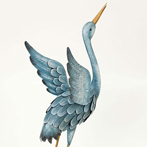 Bits and Pieces Japanese Blue Herons Metal Garden Sculptures
