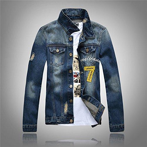 Lavata Camicia Sottile Breve Uomini Cowboy In Fashion Slim Denim Xl Giacca Paragrafo Abbigliamento Da Jeans 7Ydq4wdrF