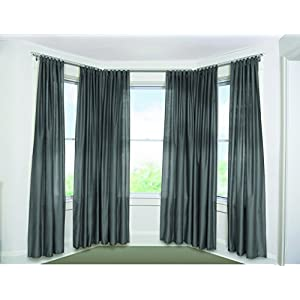 Umbra Bayview Adjustable Drapery Rod System for Bay Windows, Nickel