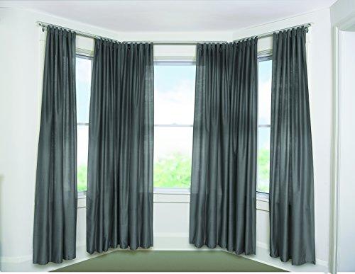 umbra bayview adjustable drapery rod system for bay windows nickel new ebay. Black Bedroom Furniture Sets. Home Design Ideas