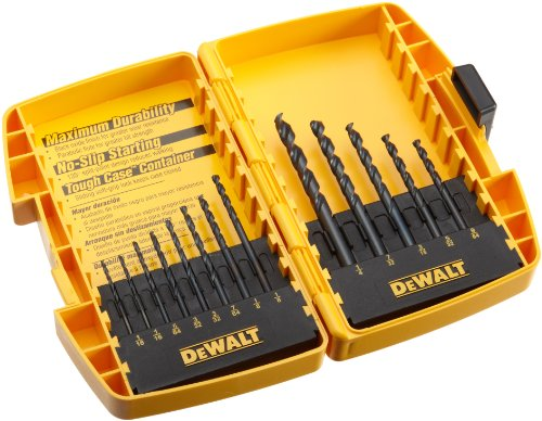 Twist Drill Set - DEWALT DW1163 13 Piece Black Oxide Split Point Twist Drill Bit Assortment