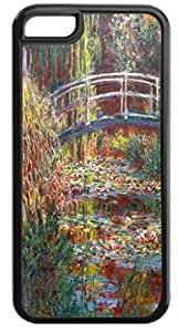 Bridge Over a Pond Of Water Lily Irises by Claude Monet - Case for the APPLE IPHONE 6 PLUS ONLY-Soft Black Rubber Outer Case by runtopwell