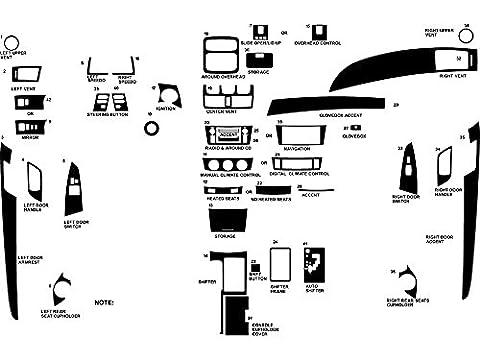 Rdash Dash Kit Decal Trim for Toyota Solara 2004-2008 - Carbon Fiber 3D (Black) (Dash Kit Solara)