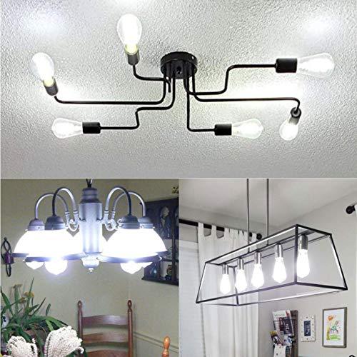 BORT (ST64/ST19) Vintage LED Edison Bulbs, 8W, Daylight White 5000K, Antique LED Filament Light Bulbs, Dimmable, 80W Equivalent, 800LM, E26 Standard Base, Clear Glass (8W-5000K-6Pack)