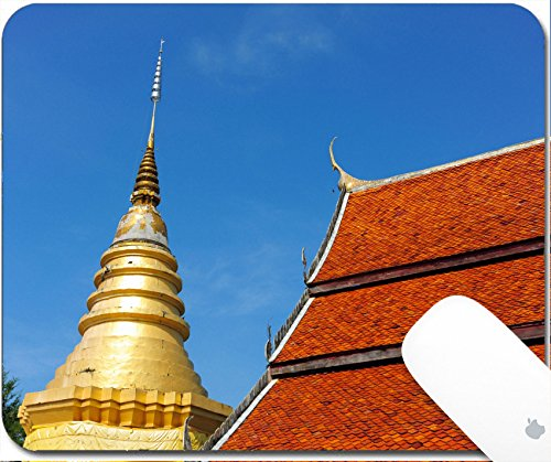 Price comparison product image Luxlady Gaming Mousepad 9.25in X 7.25in IMAGE: 34383688 LAMPANG THAILAND NOVEMBER 21 2014 Amazing Lanna architectural styles of Wat Phra that Chom ping Temple Lampang Thailand November 21 2014