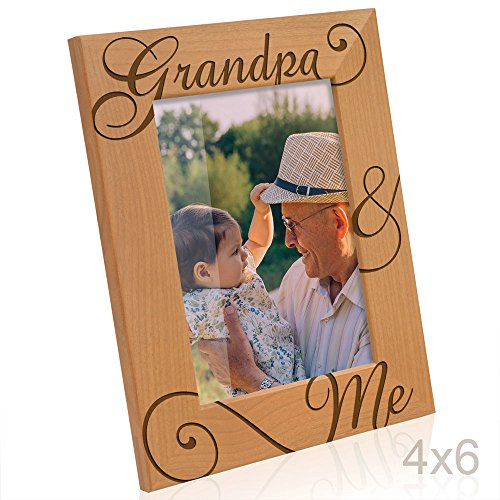 Kate Posh - Grandpa & Me Natural Wood Picture Frame - I love
