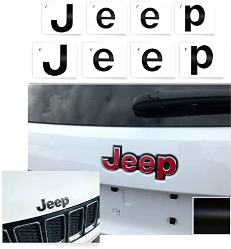 Emblem Do it Yourself Stickers Set Personalize Your Wrangler IPG for Jeep Wrangler 2007-2018 Grille Emblem Overlay Sticker