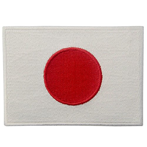 (Japan Flag Embroidered Japanese National Emblem Iron On Sew On)