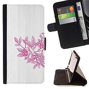 Momo Phone Case / Flip Funda de Cuero Case Cover - Primavera Arte lavado blanco gris - Samsung Galaxy S3 III I9300