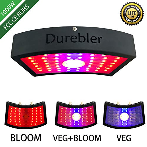 1000W LED Grow Lights,COB LED Grow Light,Double Chips Panel Grow Lamp,Full Spectrum LED Grow Lamp with Advantages of Super Brightness,Low Power Consumption for Greenhouse Indoor Plant Veg and Flower
