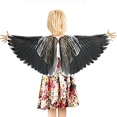 Kids Bird Dress Up Wings Costume Accessory-Boys Girls Pretend Play Games (#2 Eagle) Red, Blue, Yellow: Clothing