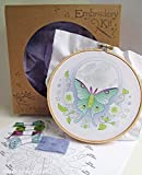 Luna Moth Beginner Hand Embroidery Kit