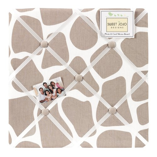 Sweet Jojo Designs Giraffe Fabric Memory/Memo Photo Bulletin Board by Sweet Jojo Designs