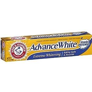 ARM & HAMMER Advance White Baking Soda & Peroxide Toothpaste, Extreme Whitening 4.3 oz (Pack of 6)
