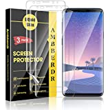 AMBBERDR [3-Pack] Screen Protector for Samsung Galaxy S9 Plus Max Coverage Flexible Film [Not Wet Applied] with Lifetime Replacement Warranty