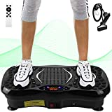 AGM Power Plate Gym Fitness Machine with Bluetooth Speaker Unisex Vibration Trainer for Weight Loss & Body Toning 21LB, 3 Modes (Black)
