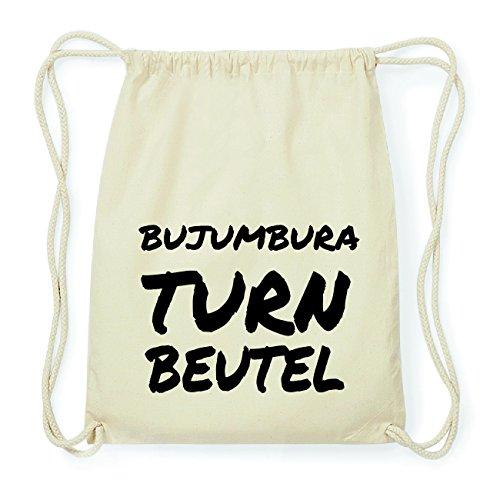 JOllify BUJUMBURA Hipster Turnbeutel Tasche Rucksack aus Baumwolle - Farbe: natur Design: Turnbeutel 6B0TN