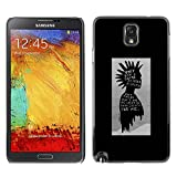 LASTONE PHONE CASE / Slim Protector Hard Shell Cover Case for Samsung Note 3 N9000 N9002 N9005 / Black Poster Guy Grey Man