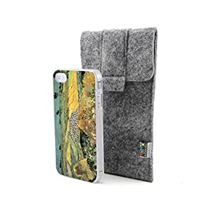 CaseCityLiu - Wheat Vincent Willem van Gogh Oil Painting Design Hard Case Cover for Apple iPhone 4 4s 4th 4g 4Generation Come With FREE Non Woven Packing Bag