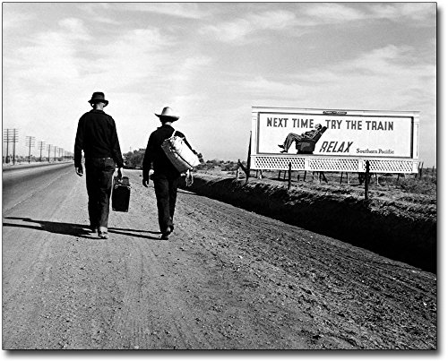Toward Los Angeles, Dorothea Lange FSA 11x14 Silver Halide Photo Print by The McMahan Photo Art Gallery & Archive