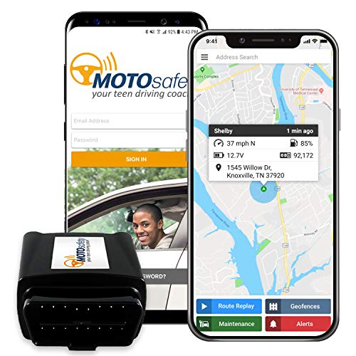 GPS Tracker for Vehicles - MOTOsafety 4G Real Time OBD Tracking Device for Kids & Cars & Vehicle Monitoring System (Best Monitoring System For Elderly)