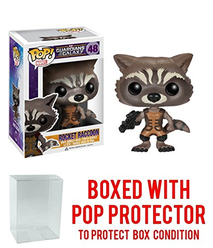 Funko Pop! Guardians Of The Galaxy Rocket Raccoon Vinyl Figure Bundled with Free Pop BOX PROTECTOR CASE