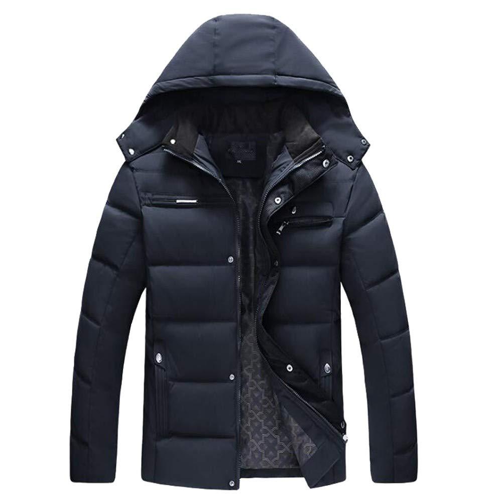 Mens Tactical Jacket,Men Boys Warm Hooded Coat Outwear Jacket Windbreaker,Jackets for Men(XL,Navy)