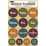 Magnetic Poetry Weekly Planner Refrigerator Round Magnets Kit - Orange 3339
