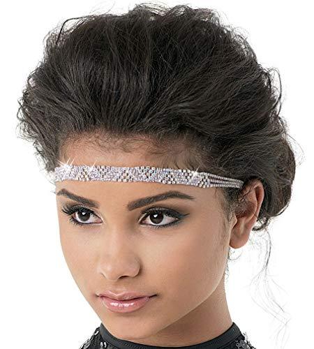 Balera Headband Womens Hair Accessory For Dance Girls Rhinestone Crystal Elastic Headband Crystal OSFA from Balera