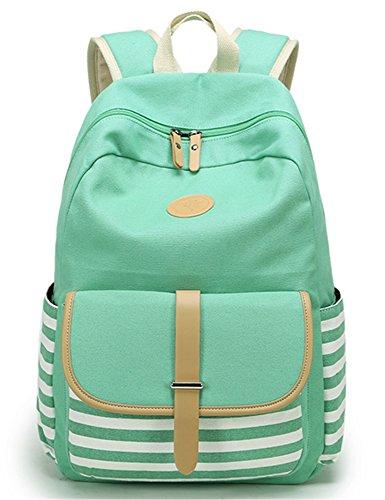 Leaper Cute Thickened Canvas School Backpack Laptop Bag Shoulder Daypack Handbag  L Water Blue