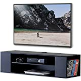 FITUEYES Wall Mounted Audio/Video Black Wood Grain for Xbox one /PS4/ vizio/Sumsung/Sony TV DS210002WB