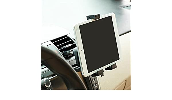 Amazon.com: Car Mount Air Vent Tablet Holder Rotating Cradle Dock Stand Black for iPad Mini with Retina Display - iPad Pro 9.7 - Archos 10.1 G9 Turbo: Cell ...