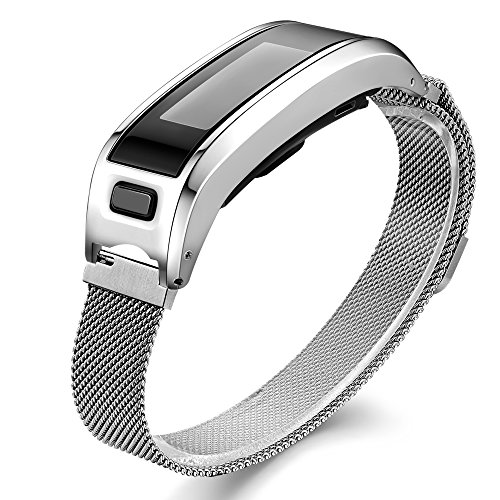 Accessory Bands for Garmin Vivosmart HR, Metal Case with Adjustable Watch Replacement Band Strap for Garmin Vivosmart HR, 6.25'-9.1' Not for Garmin Vivosmart HR+ (No Tracker)