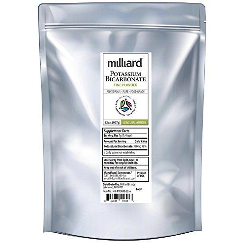 Price comparison product image Milliard Potassium Bicarbonate Food Grade Powder Bulk - 32 oz (2 Pound)