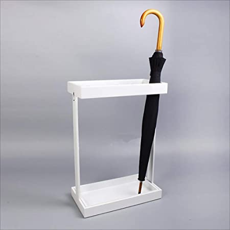 DNLM Estante pl/ástico Contemporary Paraguas Marco de Entrada del Pasillo Almacenamiento en el hogar parag/üero Paraguas 25,5 x 25,5 x 57 cm,White