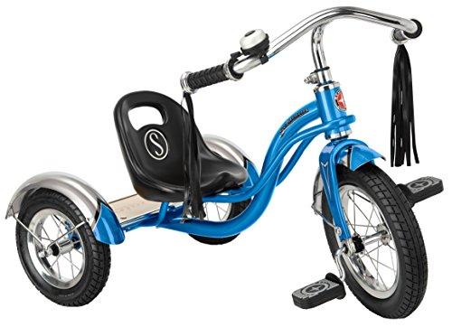Schwinn Roadster Tricycle, 12' wheel size, Trike Kids Bike Electric Bright Blue