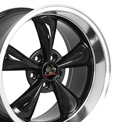 18x10 Wheel Fits Ford Mustang - Bullitt Style Black Rim - REAR FITMENT ONLY Black Bullitt Wheel