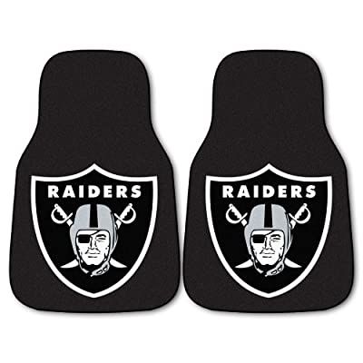 FANMATS NFL Oakland Raiders Nylon Face Carpet Car Mat