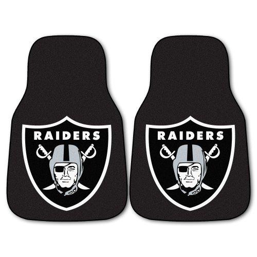 - FANMATS NFL Oakland Raiders Nylon Face Carpet Car Mat