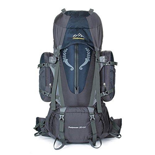 Sincere® Verpackung / Rucksäcke / Mobil / Ultraleicht Große Kapazität Bergrucksack / Outdoor-Sporttasche / Beutel / Camping-Rucksack 80L-schwarz 90L