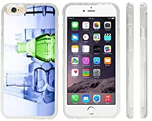 Rikki KnightTM Green and Blue Magic Fluids in tubes Design Case For Ipod Touch 4 Cover (Clear Hard with front bumper protection) Case For Ipod Touch 4 Cover