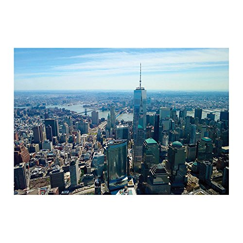 New York City Manhattan One World Trade Center Poster 13 x 19 Inch - One of the greatest NY City Attraction - Perfect For New York Lovers, Stores, Hotels, Motels, Home, Office And Much More!