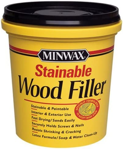 2. Minwax 42853000 Stainable Wood Filler